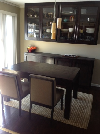 Cabinets and Dining Table handcrafted by Blackdog Woodworking.