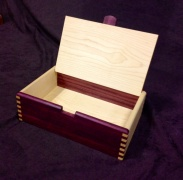 Purple Heart and hard maple keepsake box.